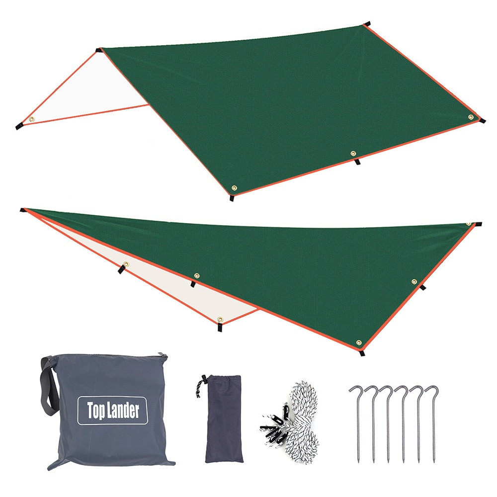 3x3m 3x4m 3X5m Sun Awning with 6 Pegs and 6 Ropes Waterproof Car Shade Sunshade Garden Beach Umbrella Travel Camping Tent Tarp