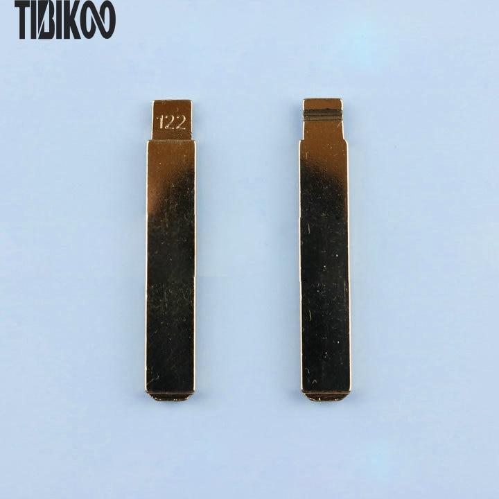 NO.122 Key Blade para Citroen C4L reemplazo Key Blade ranura lateral