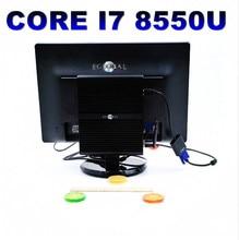 Le plus récent i7 8550U mini pc barebone windows linux ubuntu core i7 mini pc WiFi 300M double bande mini ordinateur 32GB RAM M.2 SSD HTPC i7