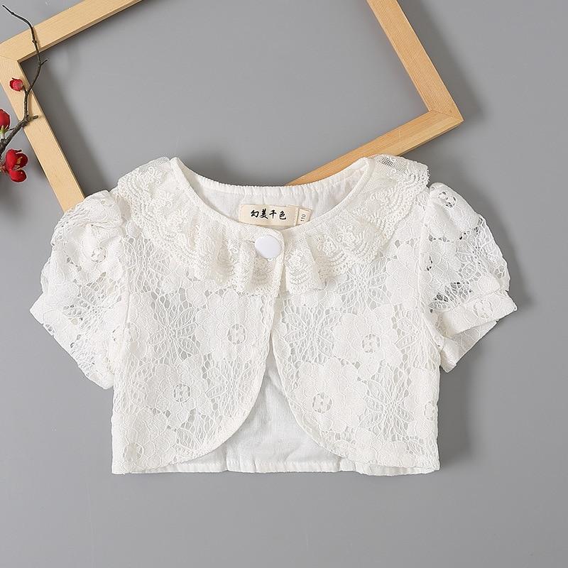 New Baby Girls Bolero Kids Soft Lace Short Jacket for Matching Girls Shrug for Party Wedding Children Clothing