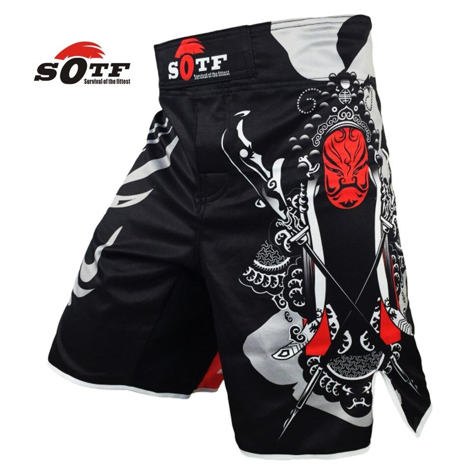 SOTF mma shorts Boxeo muay thai bañadores de boxeo tiger muay thai kickboxing ropa de lucha guan yu Chinas wind SOTF mma pretorian