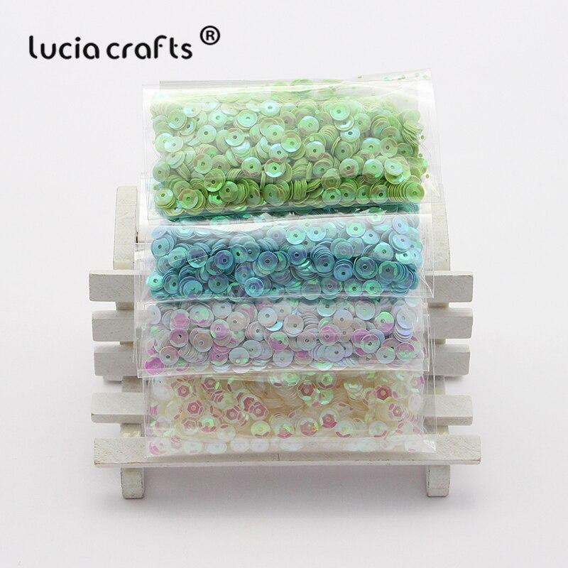 Lentejuelas sueltas de plástico multicolores de 20g/Lote 5mm para fiesta en casa, decoración de boda, accesorios DIY D0805