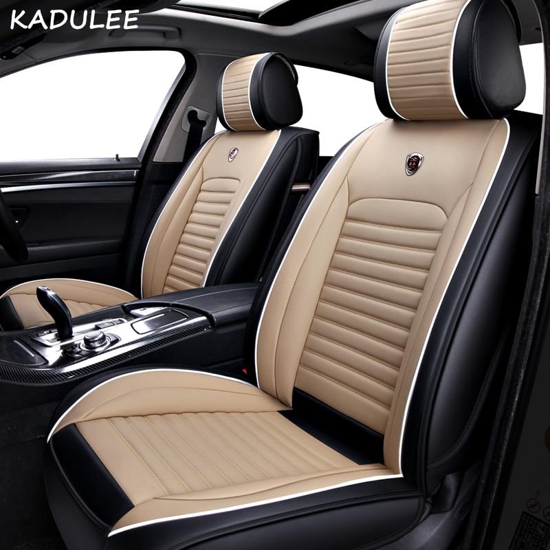 KADULEE PU Leather car seat cover For Kia rio 3 soul sportage 2011 2018 sorento cerato k3 optima 2017 waterproof car accessories