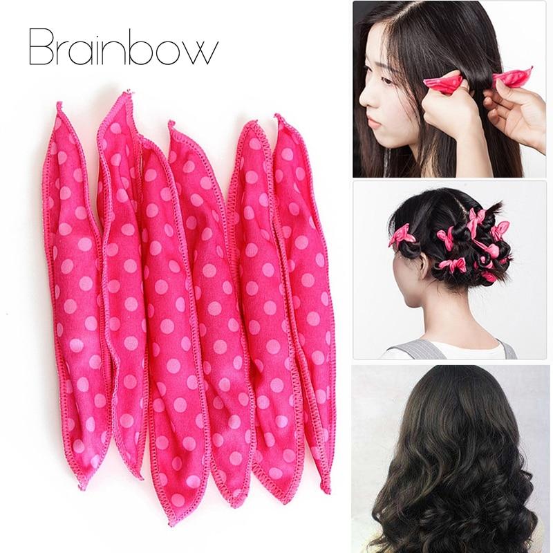 Brainbow 20/30 rolos de rolos de rolos de cabelo macio sono mágico esponja travesseiro espuma flexível & esponja rolo de cabelo diy salão de beleza ferramentas de estilo de cabelo