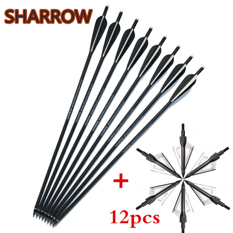 12pcs-20-22-crossbow-bolts-arrowsarchery-arrowheads-replaceable-broadheads-100gr-for-outdoor-sports-shooting-accessories