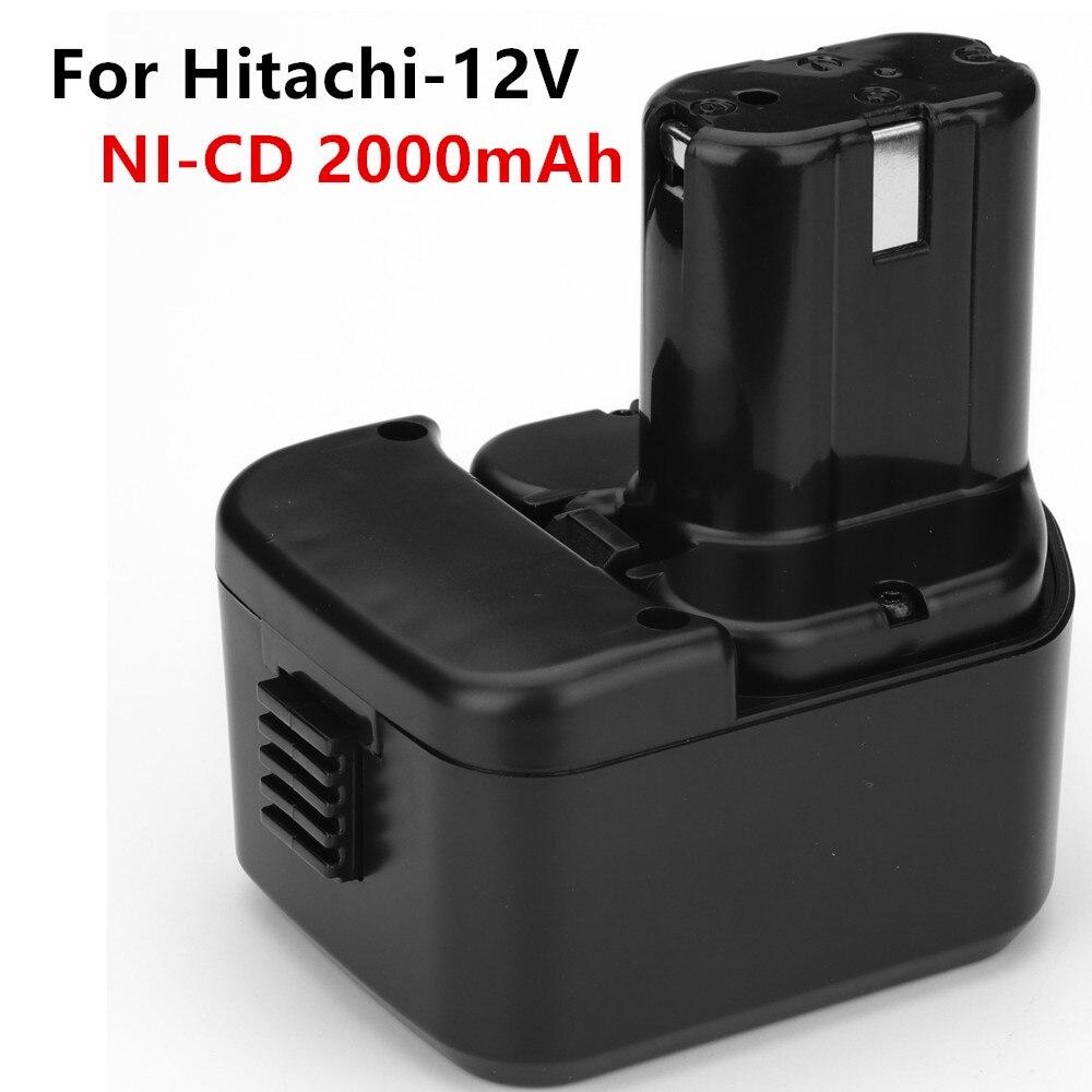12V 2000mAh Ni-CD Ferramentas De Poder da bateria de Substituição para Hitachi EB1214S 12V EB1220BL EB1212S WR12DMR CD4D DH15DV C5D DS 12DVF3