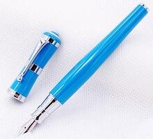 Fuliwen 2051 Metall Brunnen Stift, frische Mode Stil Feine Nib 0,5mm Schöne Sky Blue für Office Home Schule, Männer und Frauen