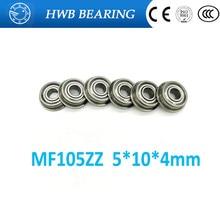 40pcs MF105 ZZ MF105ZZ 5*10*4 Miniature Flange Deep Groove Ball Radial Ball Bearings 5*10*4mm  LF1050 ZZ MF105-2Z