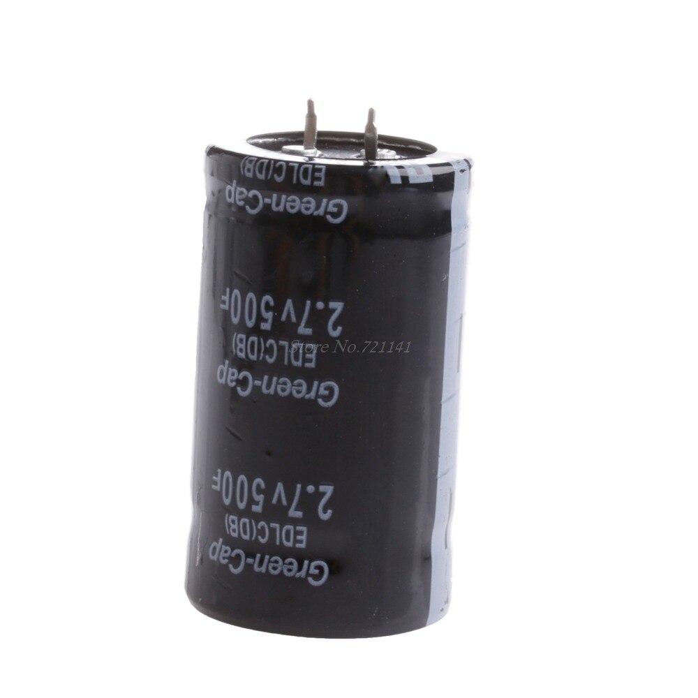 1PC Farad Capacitor 2.7V 500F 35*60MM Super Capacitors Through Hole General Purpose Dropship