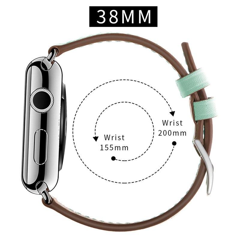 Correa de repuesto de cuero de 38MM para Apple Watch1/2/3 correa de reloj de moda para mujer para Apple Watch accesorios de pulsera inteligente