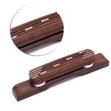 1 PC pièces de guitare Durable palissandre guitare pont mandoline pont pour Hofner basse guitare réglable