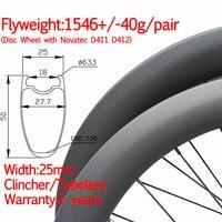 Super light Width 25mm carbon road bike disc wheel clincher tubeless 2 year warranty straight pull wheelset thru 12*100 12*142