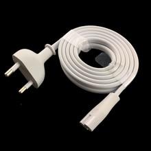 White EU power cable  6ft 1.8M Figure 8 C7 to Euro EU European 2 Pin Plug for PS4 apple TV DVD camera