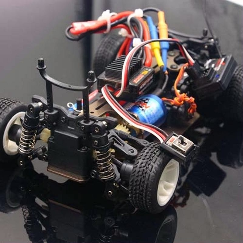 Rc wltoys a202 a212 a222 a232 a242 a252 124 carro arr rtr brushless atualizar ezrun 2030 motor 18a esc ax5s 2.4g rádio
