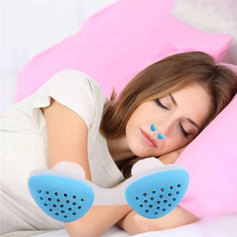Respirador de silicona Anti ronquidos cómodo para dormir, dispositivo dilatador de ronquidos para la nariz, equipo de ayuda para el sueño con congestión