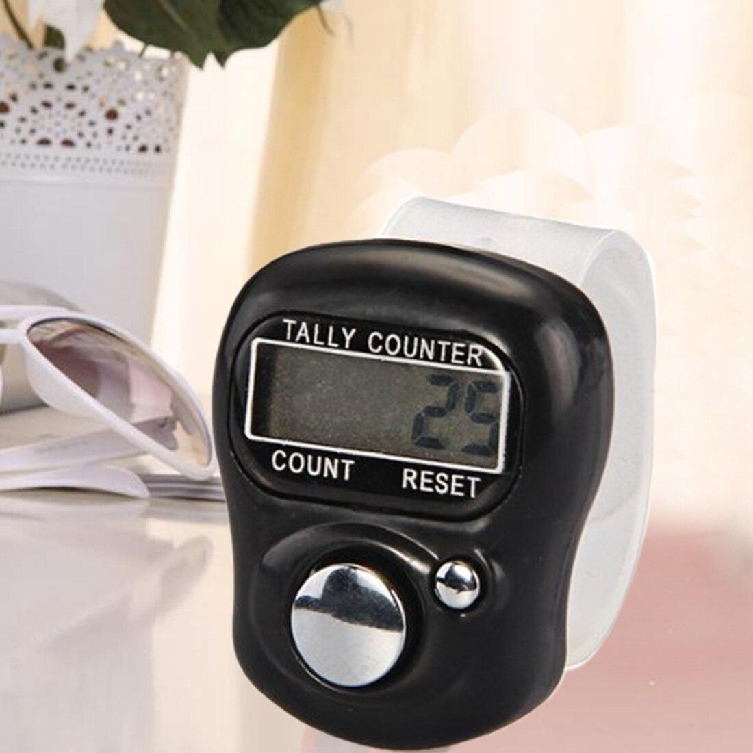Contador Digital Manual de dedo contador de registro anillo de 5 dígitos contador electrónico LCD con batería 0-99999