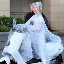 Moda motocicleta bicicleta capa de chuva capa de chuva/capa de chuva eva polka dot impermeável