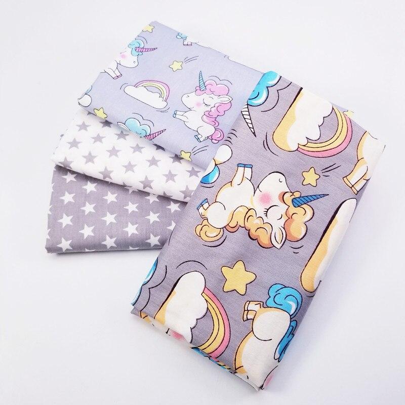 100% tela de sarga de algodón impreso Patchwork tela de algodón bricolaje suministro para manualidades coser edredón de material para acolchar grueso para niño y bebé
