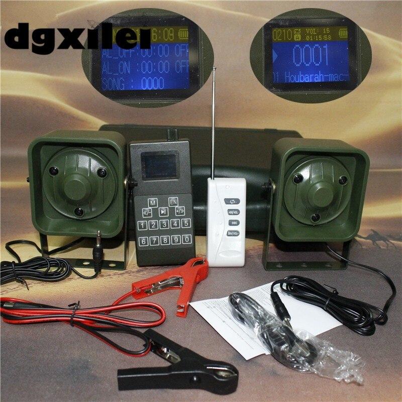 Altavoz amplificador Xilei para exteriores de 50W y 150Db con sonido de pájaro para caza y caza con control remoto