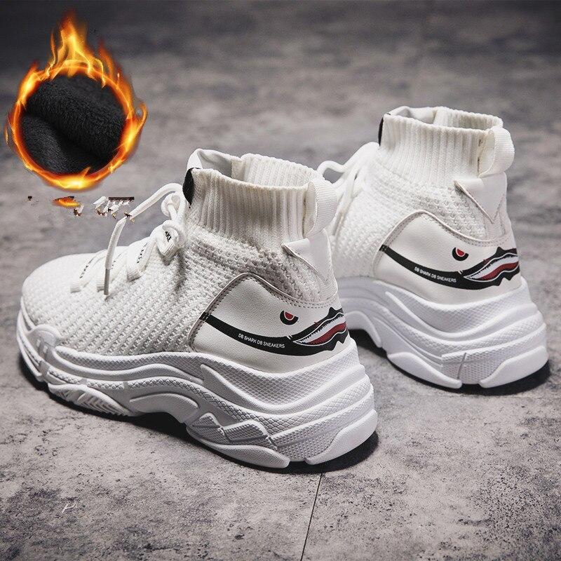 Zapatillas de deporte cálidas de felpa para invierno para hombre, suela gruesa, zapatos para correr, aumento de altura, 6 CM, zapatos gruesos para mujer, zapatos para caminar al aire libre