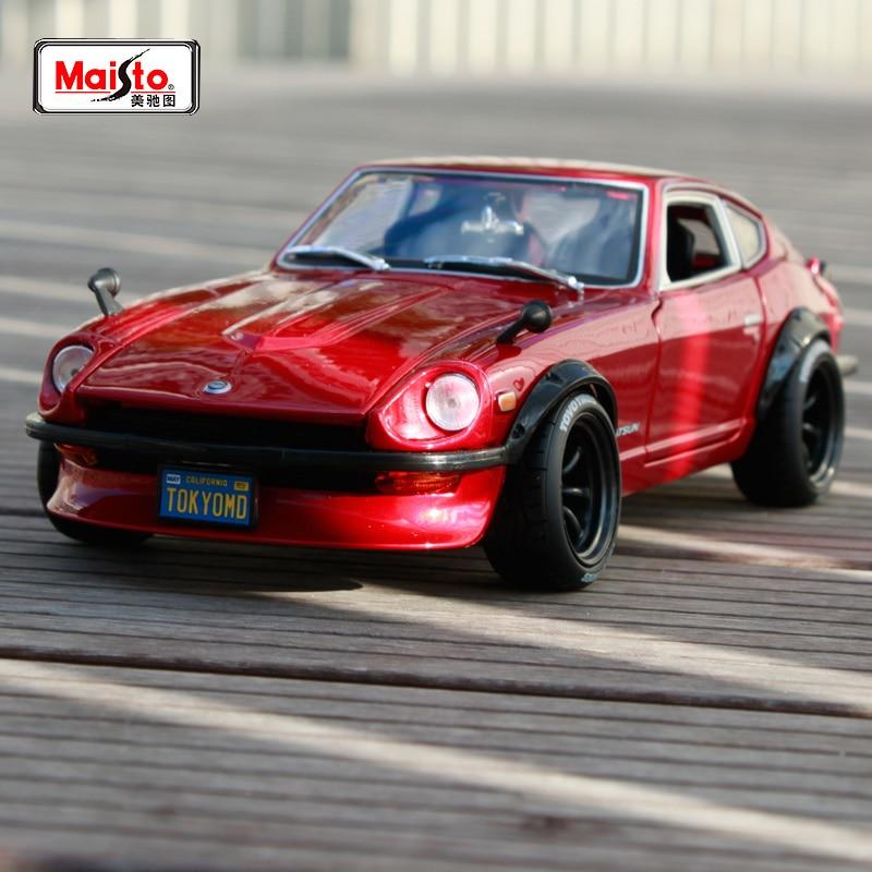 Спортивный автомобиль Maisto 1:18, Nissan Datsun 240Z, чертенок, красный, литой под давлением, модель автомобиля, новая в коробке, бесплатная доставка, новое поступление
