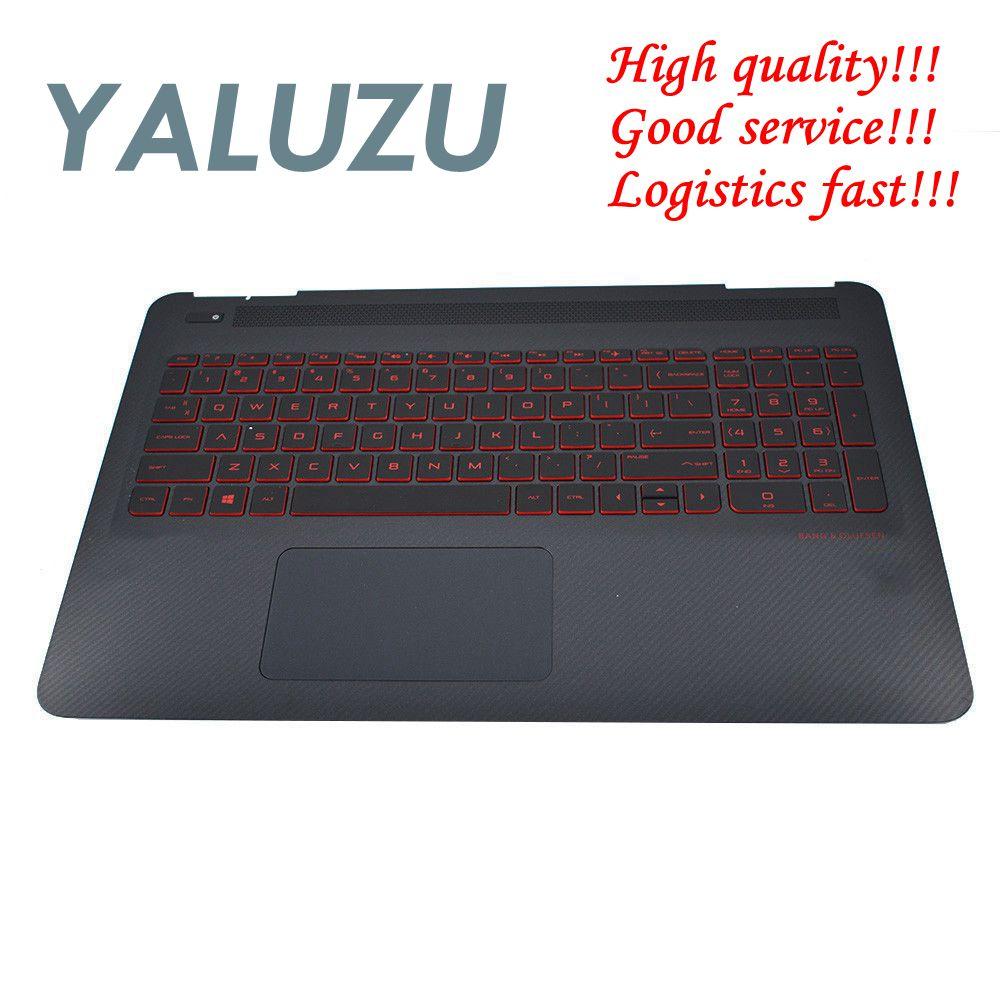 Yaluzu novo para hp omen 15-ax 15-ax020ca 15-ax100 15-ax200 palmrest caso capa superior retroiluminado teclado eua com touc hp ad 859735-001