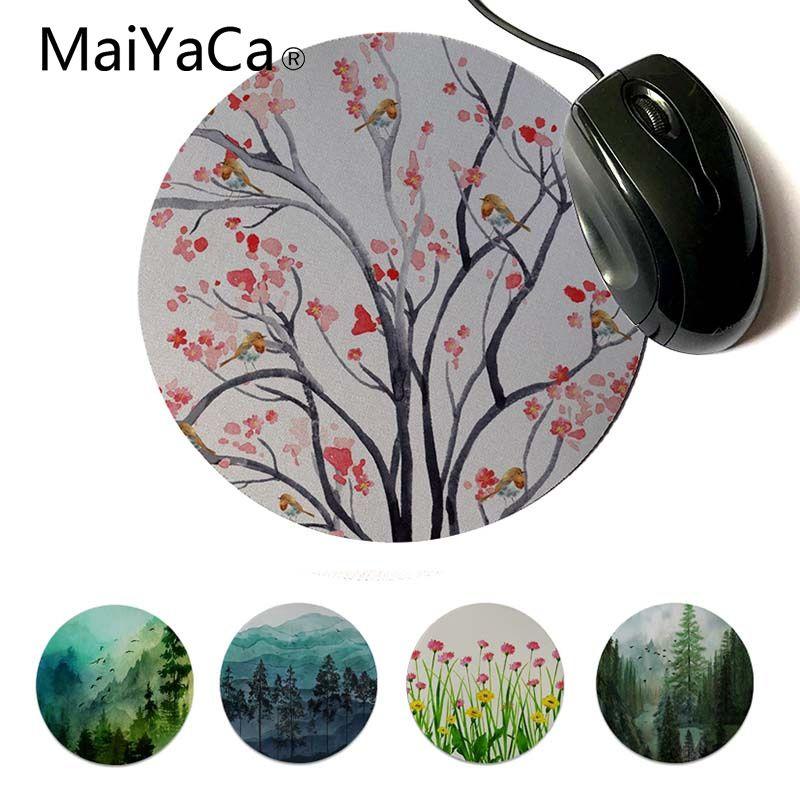 Современные коврики для мыши MaiYaCa Spring Mountain Morning, круглые игровые компьютерные коврики под заказ