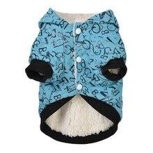 Ropa para perro y gato de algodón chihuahua Sudadera con capucha caliente gruesa perla broche otoño invierno abrigo para cachorro