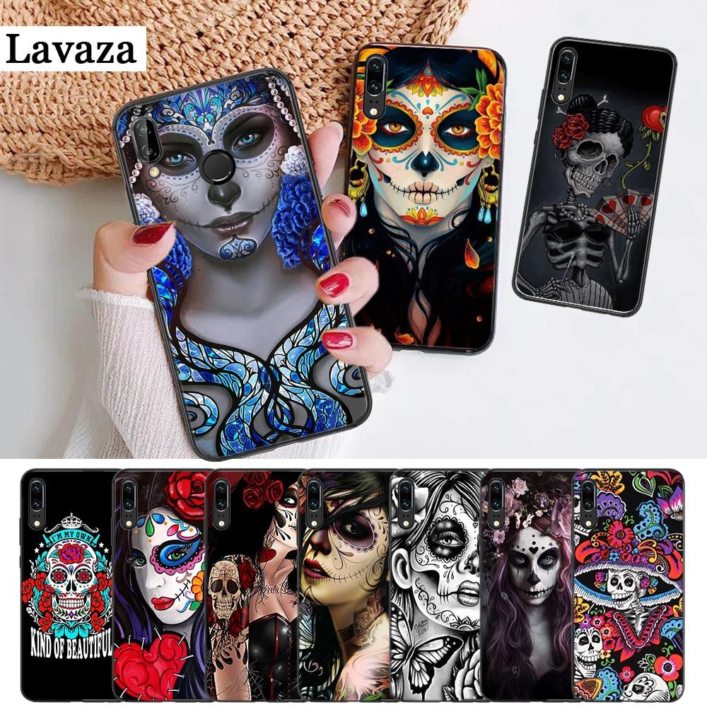 Mexican Skull Skin Silicone Case for Huawei P8 Lite 2015 2017 P9 2016 Mimi P10 P20 Pro P Smart Z 2019 P30