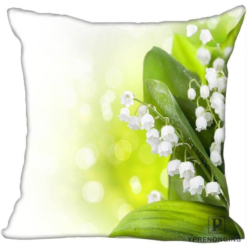 Fronha decorativa feita sob encomenda pequena orquídea quadrada com zíper fronha capa 35x35, 40x40,45x45cm (um lado) 180522-01-09