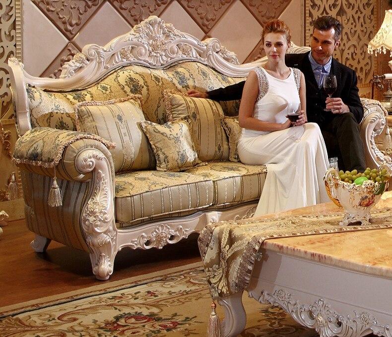 Высококачественный тканевый диван в европейском стиле 1 + 2 3 мебель для гостиной