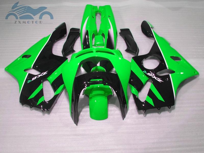 Completo kit carenagens para KAWASAKI Ninja 1994 1995 1996 1997 ABS kits aftermarket carenagem ZX ZX6R 6R ZX636 94- partes 97 preto verde