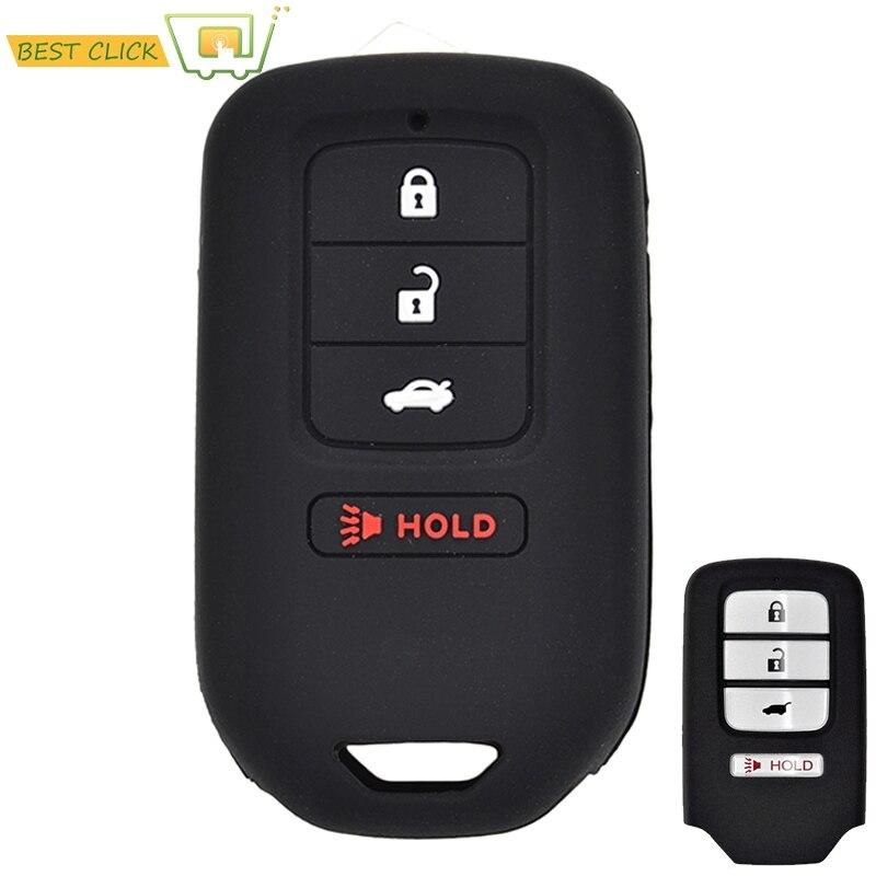 Funda de llaves de silicona para Honda Accord EX EXL cívica Crv Crz Hrv piloto Ridgeline 2013-2018 carcasa para mando a distancia sin llave soporte Protector