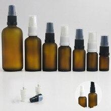 360x5 ml 10 ml 15 ml 20 ml 30 ml 50 ml 100 ml huile essentielle ambre gel bouteille en verre avec pompe pour réactif liquide Pipette Portable