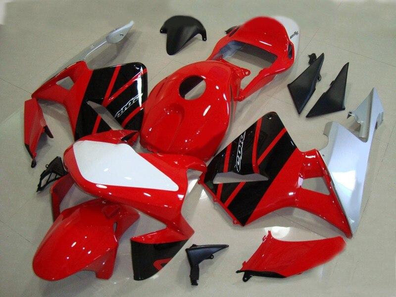 Inyección gran oferta para CBR600RR 03 04 CBR 600RR F5 CBR600 RR 2003; 2004 rojo blanco negro Kit de carenado de motocicleta