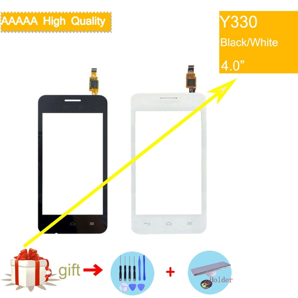 For Huawei Ascend Y330 Touch Screen Touch Panel Sensor Digitizer Front Outer Glass Lens Touchscreen No LCD black white недорого