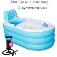 Baignoire autoportante gonflable de baignoire portative de pvc de SPA avec la couverture baignoires portatives de baignoire de couleur rose ou bleue