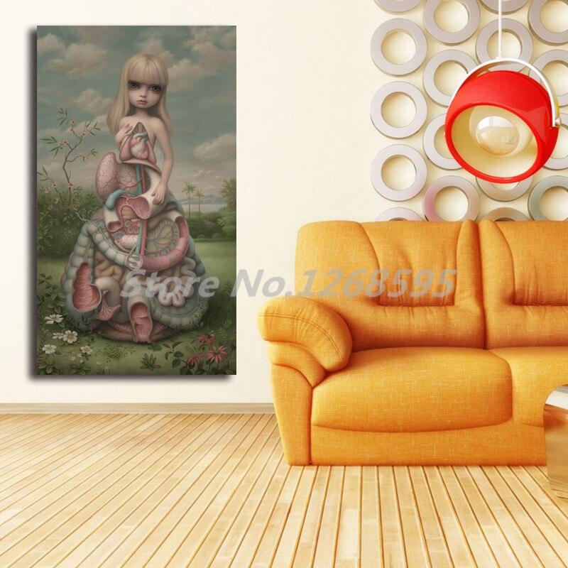 MARK RYDEN chica en agua lona pintura dormitorio Casa Decor moderno arte de la pared pintura al óleo Poster salón fotos marco