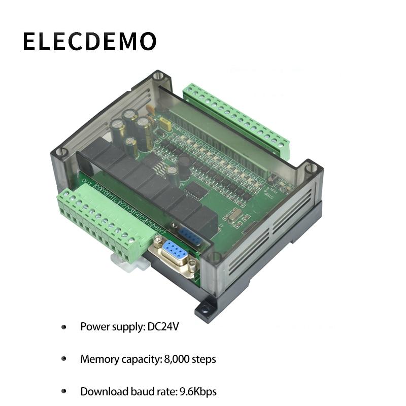 vbestlife dc24v fx1n 14mr industrial control board plc programmable logic controller relay output PLC Industrial Control Board FX1N FX2N FX3U-24MR PLC Controller Programmable