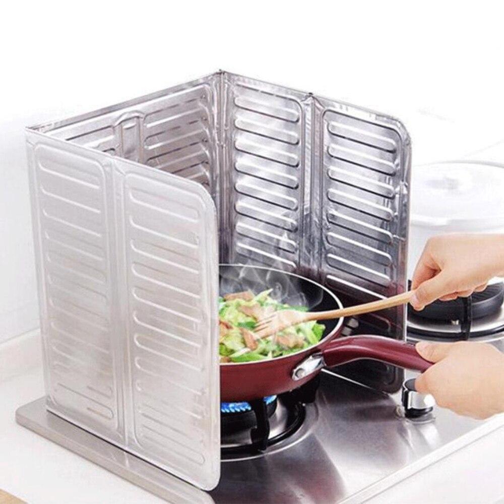 1 ud. 32,5*84 cm sartén para cocinar o freír pantalla protectora contra salpicaduras de aceite cubierta escudo antisalpicaduras separador de aceite mejores accesorios de cocina 100gC