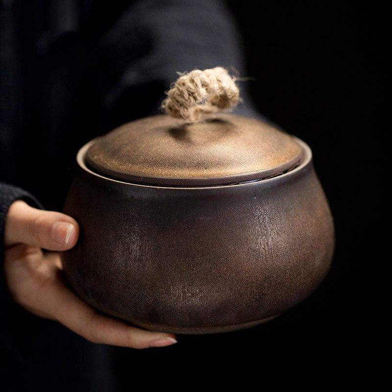 TANGPIN vintage cerámica té caddies vintage porcelana té latas almacenamiento té o comida