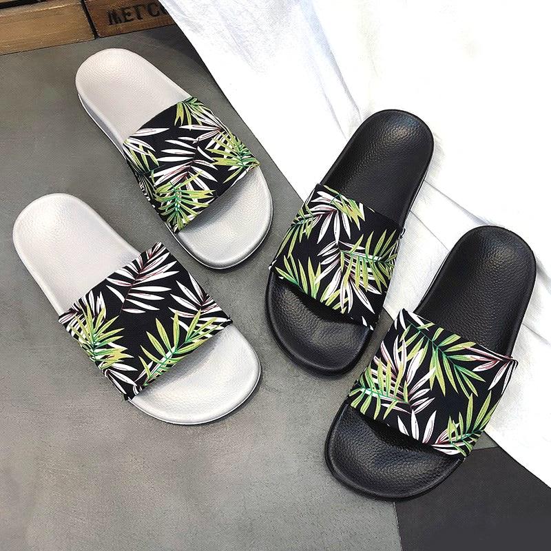 Women Summer Slippers Leaf Soft Sole Slides Women Beach Flip Flops Women Indoor & Outdoor Sandals Cloth cover Women Slides
