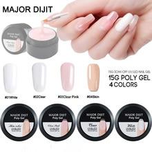 15 g/boîte constructeur Gel blanc clair couleur de la peau Fibre de verre gelée dure bâtiment rapide ongles étendre gomme Poly Gel Nail Art