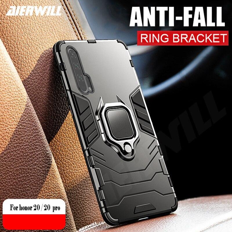Funda honor 20 para Huawei honor 20 carcasa armadura anillo Coche magnético soporte a prueba de golpes funda de teléfono para Huawei honor 20S PRO