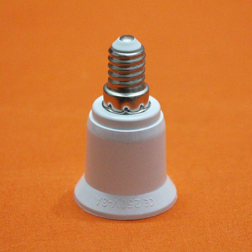 10 Uds piezas de lámparas LED E14 convertidas en portalámparas E27, accesorios de lámpara ahorradora de energía, portalámparas convertidor de diámetro de transformación