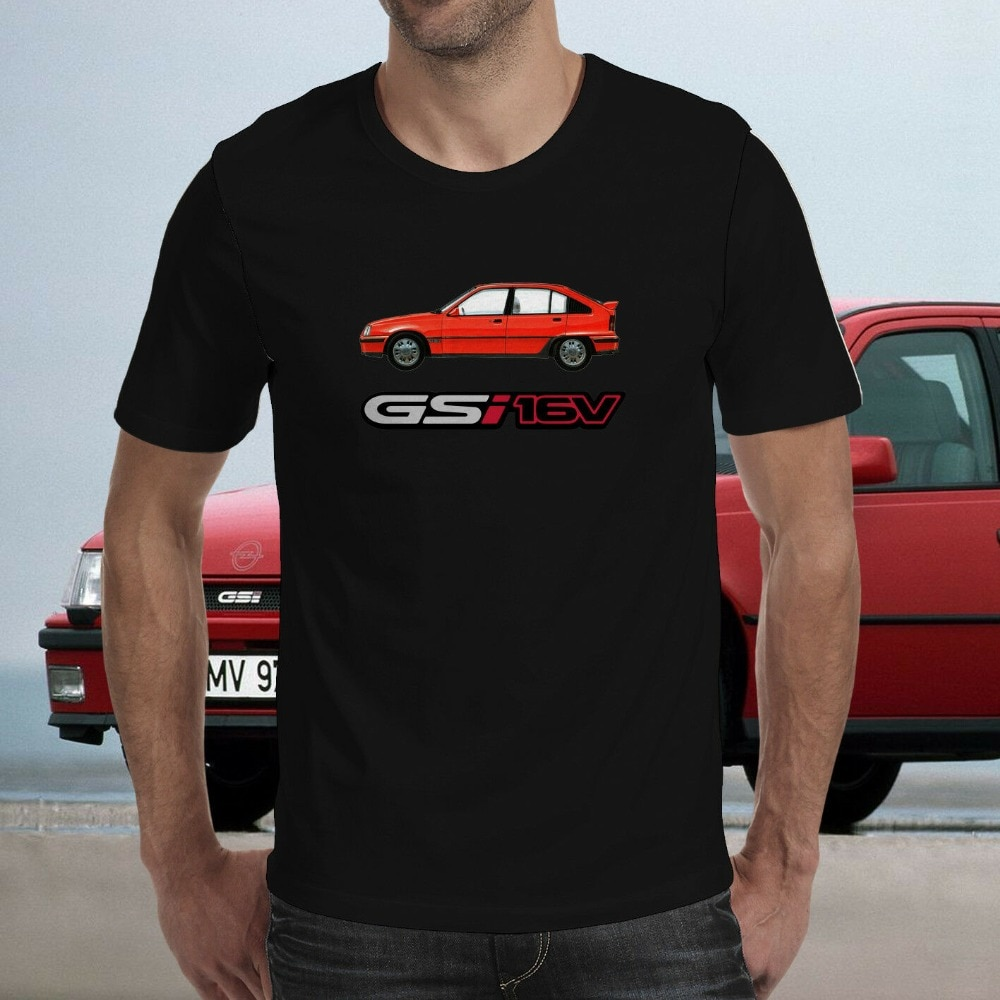 Carro kadett gsi 16 v t-camisa envio chemise unterhemd2019 masculino para impressão camiseta
