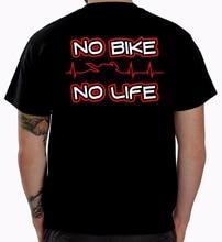 Летняя Стильная мужская футболка с принтом, летняя футболка без байкеров без жизни, Байкерская футболка, одежда для мотоцикла, забавный под...