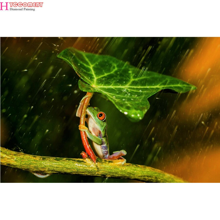 5D квадратная Алмазная картина животное дерево лягушка Сделай Сам Алмазная вышивка Алмазная мозаика вышивка крестиком пейзаж украшение под...