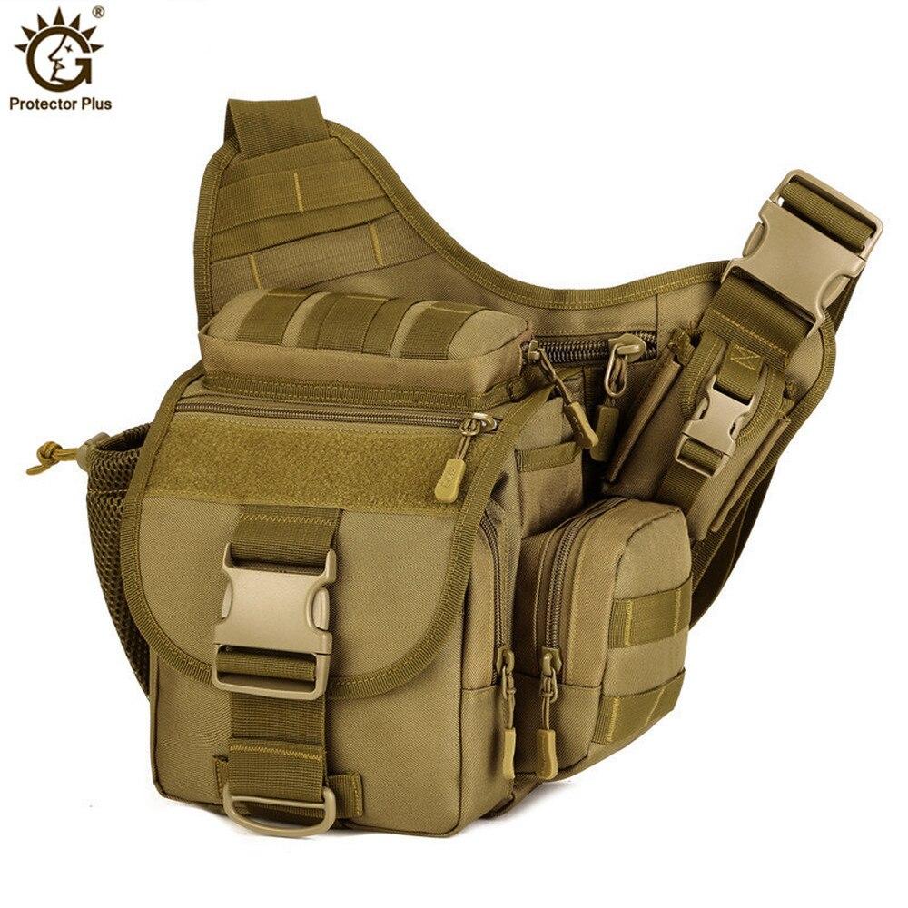 Bolsa de cámara DSLR multifuncional bolsas de mensajero táctico hombres sillín de camuflaje bolsos de hombro impermeable militar bandolera