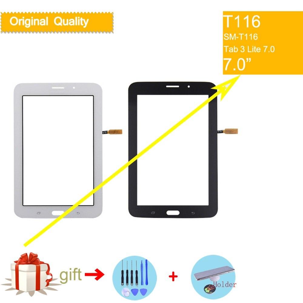 Для Samsung Galaxy Tab 3 Lite 7,0 SM-T116 T116 сенсорный экран дигитайзер стекло передней сенсорной панели сенсорный экран без ЖК-дисплея